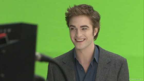 Robert Pattinson blue screen Twilight New Moon: ALLE Deleted Scenes mit Robert Pattinson!