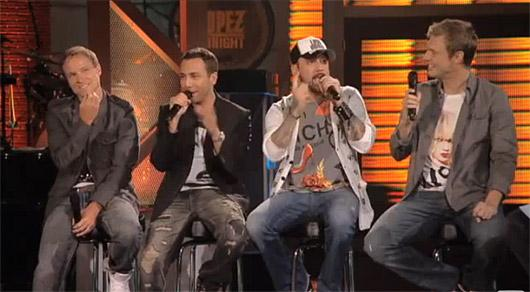 Backstreet Boys Lopez Tonight Backstreet Boys: Brian Littrell liebt Miley Cyrus!