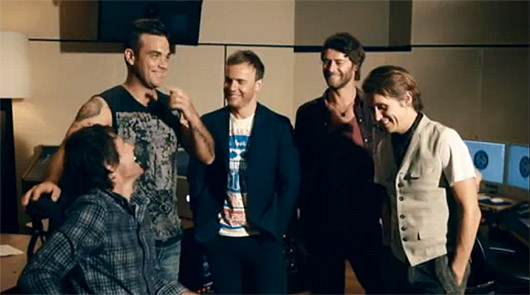Robbie Williams Take That Take That und Robbie Williams an der Chartspitze in Europa!