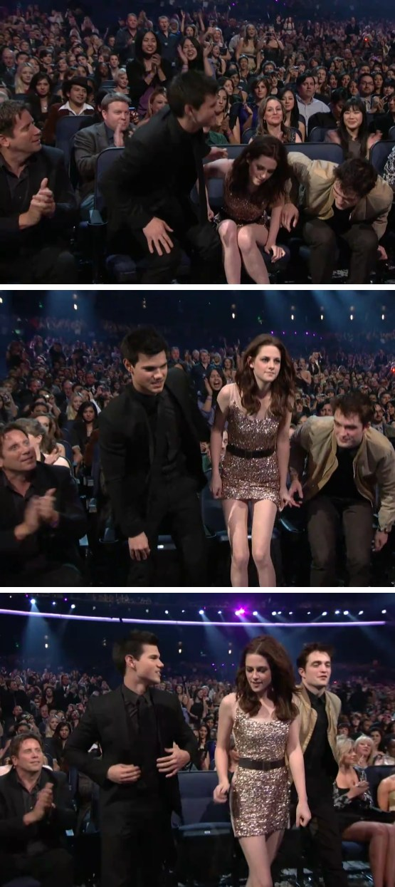 Robert Pattinson Kristen Stewart PCA Hand Robert Pattinson & Kristen Stewart: Liebesdrama @ Peoples Choice Awards?