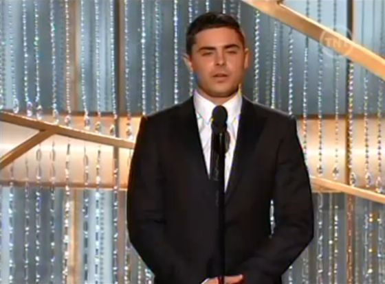 Zac Efron Golden Globes Rede