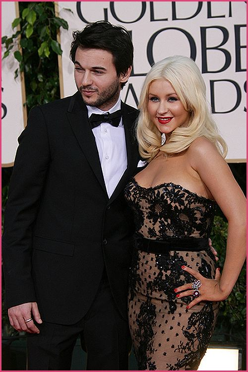 christina aguilera golden globes 2011 2