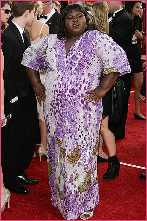 gabourey sidibe golden globes 2011