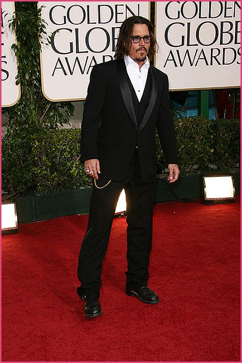 johnny depp golden globes 2011