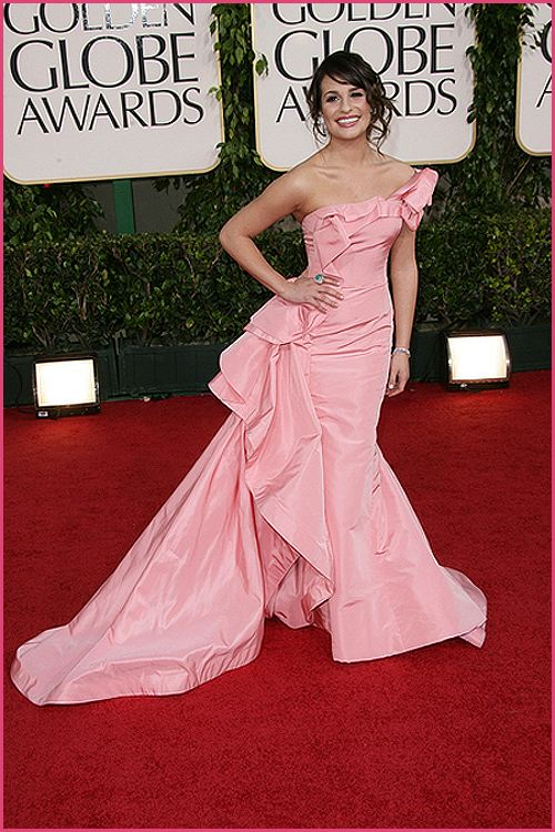 lea michele golden globes 2011