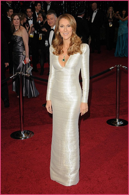 Celine Dion Oscars 2011 Céline Dion oben ohne in High Fashion Shooting