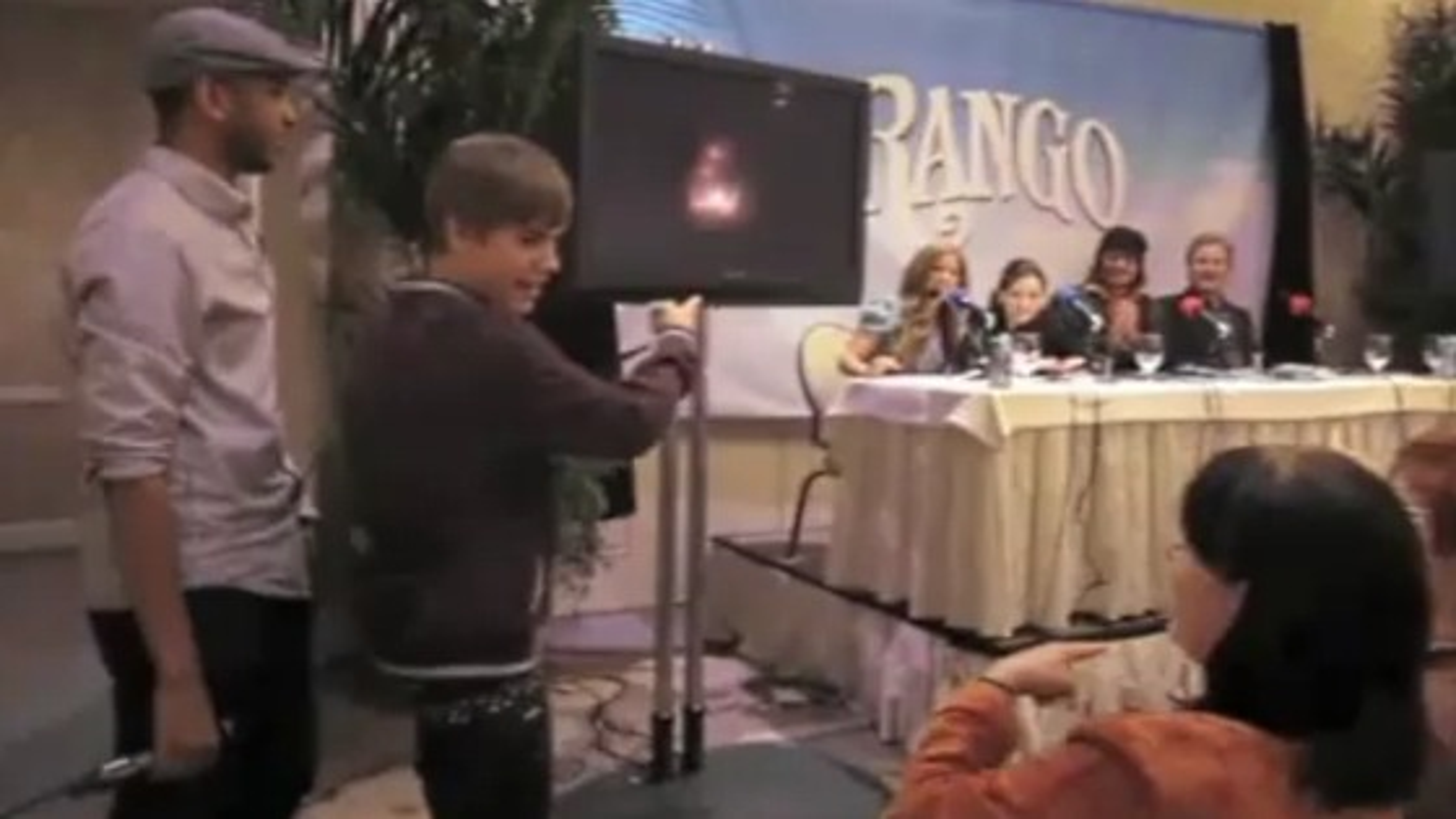 Justin Bieber Johnny Depp Rango