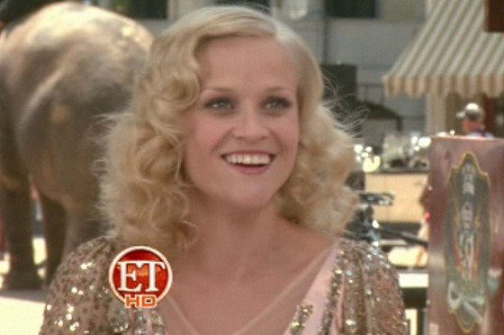 Reese Witherspoon BTS Water For Elephants