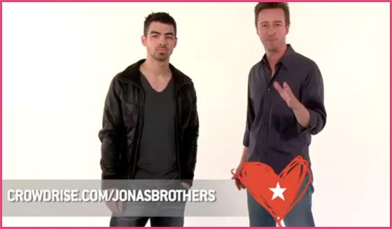 Joe-Jonas-Edward-Norton-Charity