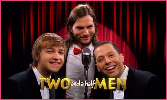 Two and a Half Men Intro Ashton Kutcher Ashton Kutcher: Deutscher Two and a Half Men Trailer
