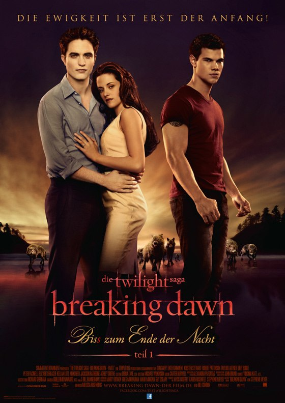 Twilight Breaking Dawn I Filmplakat deutsch Robert Pattinson & Taylor Lautner: Breaking Dawn Premiere in Deutschland!
