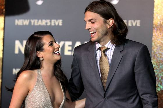 Ashton Kutcher Lea Michele New Years Eve Premiere LA 9 Foto