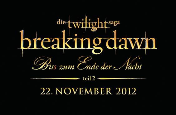 Breaking Dawn 2 Logo Schriftzug Robert Pattinson & Kristen Stewart: Neues Breaking Dawn 2 Poster!