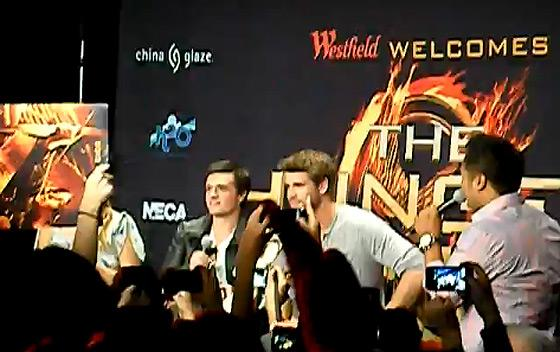 Hunger Games Mall Tour Stars Los Angeles Hunger Games Stars verursachen Fanchaos