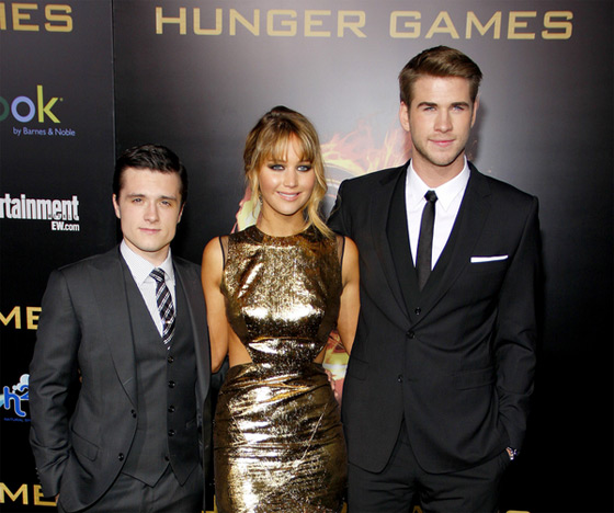 Jennifer Lawrence Liam Hemsworth Josh Hutcherson Hunger Games Premiere LA 2 Hunger Games: Josh Hutcherson & Liam Hemsworth wollen mehr Geld
