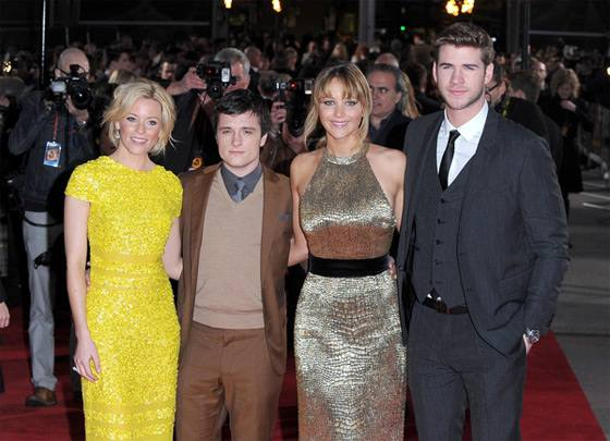 Liam Hemsworth Jennifer Lawrence Josh Hutcherson Hunger Games Premiere London The Hunger Games Premiere in London mit Jennifer Lawrence & Liam Hemsworth