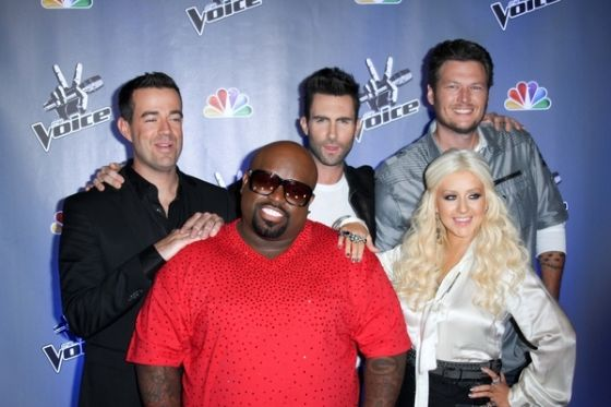 Cee Lo Green Christina Aguilera Adam Levine The Voice Christina Aguilera arbeitet an neuem Album