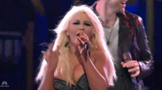 Christina Aguilera Fighter The Voice Christina Aguilera performt Fighter bei The Voice