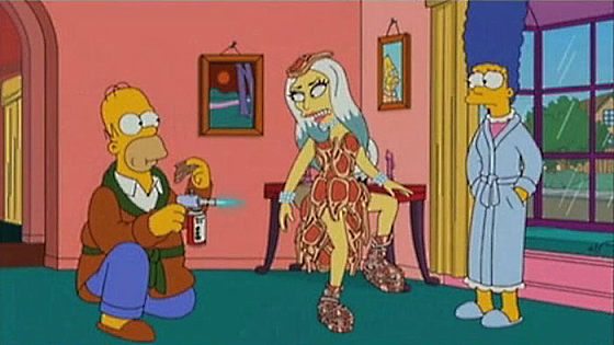 Lady Gaga Simpsons Lady Gaga rockt die Simpsons
