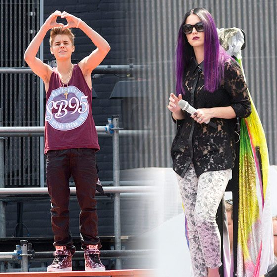 Justin Bieber Katy Perry MuchMusic Video Awards 2013 Proben Justin Bieber & Katy Perry proben für die MuchMusic Video Awards