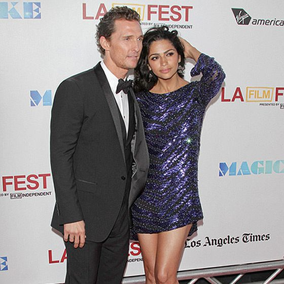 Matthew McConaughey Camila Alves Magic Mike Premiere 560
