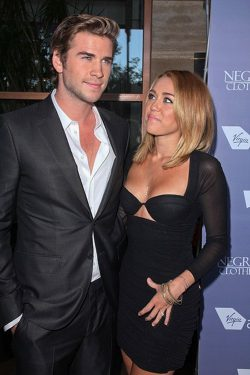 Miley Cyrus Liam Hemsworth Australians in Film Awards 1 250x375 Miley Cyrus lehnte Filmangebote wegen Liam Hemsworth ab