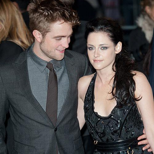 Breaking Dawn UK Premiere Robert Pattinson Kristen Stewart Quadrat Foto