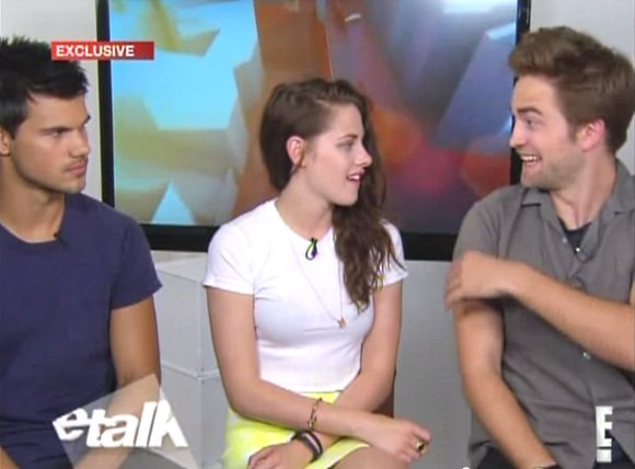 Kristen Stewart Robert Pattinson ETalk Interview Robert Pattinson & Kristen Stewart: Geänderte Prioritäten nach Twilight