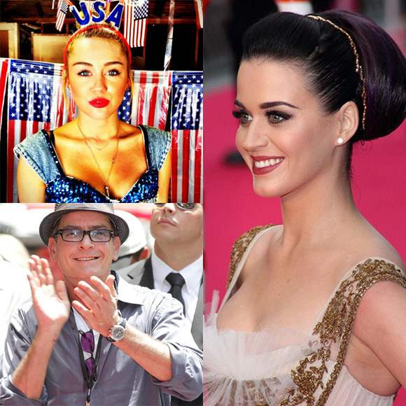 Miley Cyrus Charlie Sheen Katy Perry Miley Cyrus, Katy Perry oder Charlie Sheen als American Idol Juroren?