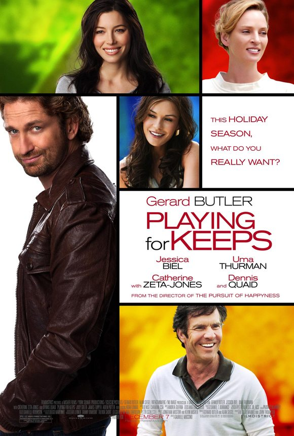 Gerard Butler Playing For Keeps Poster Gerard Butler & Jessica Biel in Playing For Keeps   Trailer