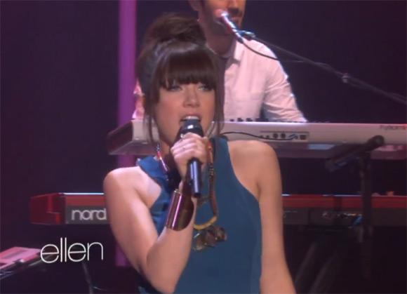 Carly Rae Jepsen The Kiss Ellen Carly Rae Jepsen mit This Kiss bei Ellen