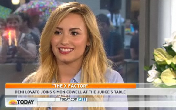Demi Lovato Today Show 2012 Demi Lovato: Strahlende X Factor Jurorin in der Today Show