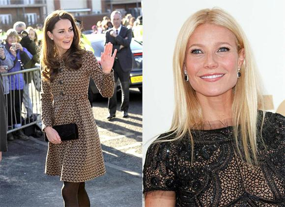 Kate Middleton Gwyneth Paltrow Gwyneth Paltrow & Kate Middleton: Bestgekleidete Frauen 2012
