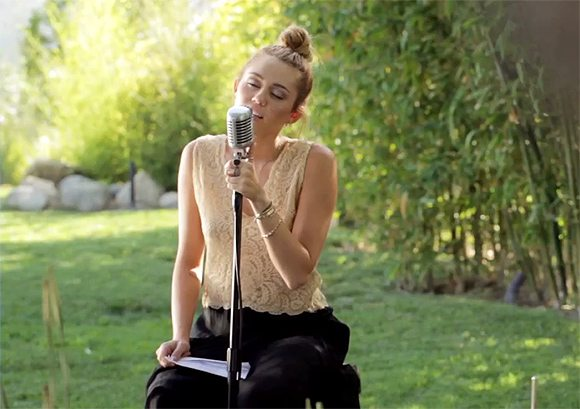 miley cyrus backyard sessions outfit miley cyrus lilac wine foto