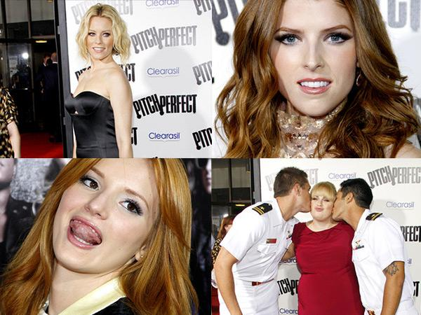 Pitch Perfect Premiere Anna Kendrick Bella Thorne Elizabeth Banks Rebel Wilson Anna Kendrick und Bella Thorne auf der Pitch Perfect Premiere