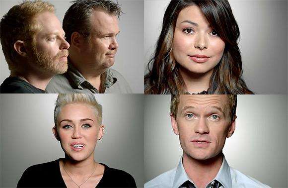 Rock The Vote Miley Cyrus Neil Patrick Harris Miranda Cosgrove Miley Cyrus & Miranda Cosgrove: Rock The Vote Kampagne