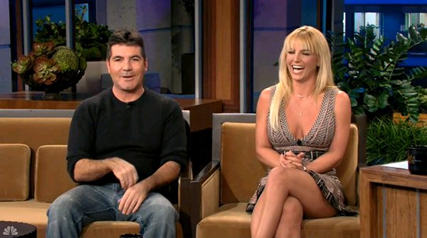 Britney Spears Simon Cowell Jay Leno Britney Spears und Simon Cowell in der Tonight Show