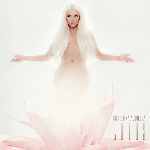 Christina Aguilera Lotus Album Cover Christina Aguilera: Sexy Lotus Album Cover!