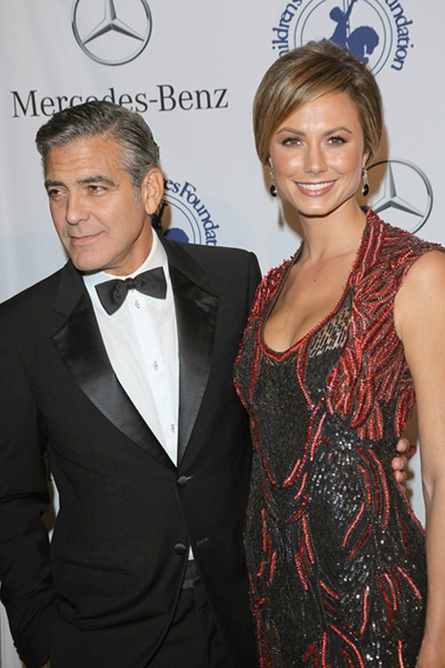 George Clooney und Stacy Keibler