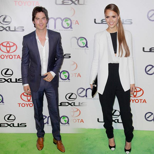 Ian Somerhalder Jessica Alba Environmental Media Awards 2012 Ian Somerhalder und Jessica Alba bei den Environmental Media Awards ausgezeichnet