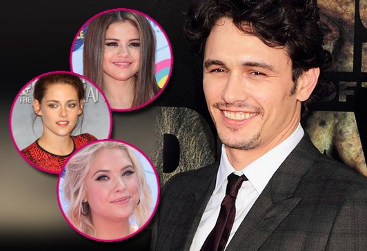 James Franco Kristen Stewart Selena Gomez Ashley Benson James Franco: Keine Dates mit Kristen Stewart, Selena Gomez & Ashley Benson