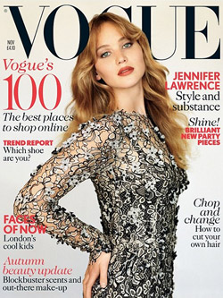 Jennifer Lawrence Vogue November 2012 Jennifer Lawrence auf dem Vogue Cover