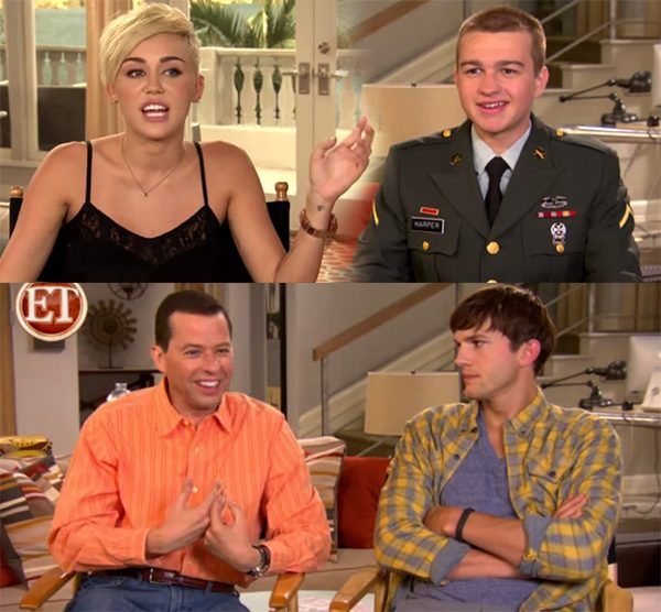Miley Cyrus Two and a Half Men Set1 Miley Cyrus am Set von Two and a Half Men