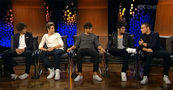 One Direction Late Show One Direction räumen mit Gerüchten auf