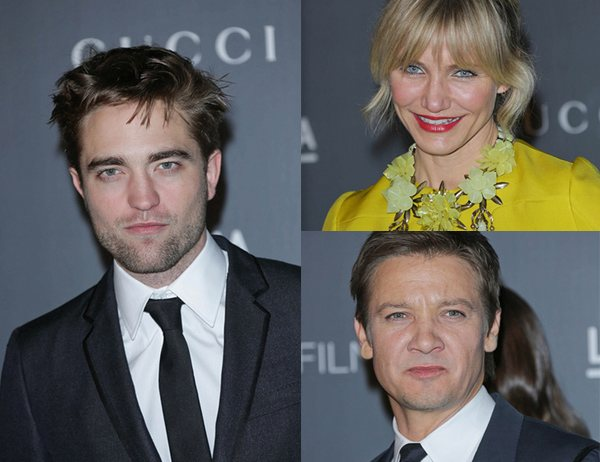 Robert Pattinson Cameron Diaz Jeremy Renner LACMA Robert Pattinson: LACMA Art + Film Gala 2012
