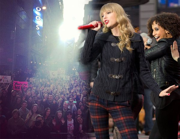 Taylor Swift Times Square Taylor Swift: Platinkurs mit Red & Auftritt am Times Square