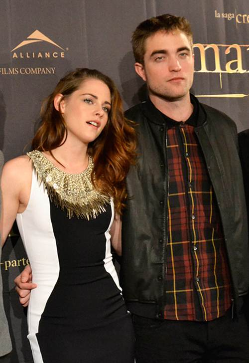 Robert Pattinson Kristen Stewart Breaking Dawn 2 Photocall Madrid