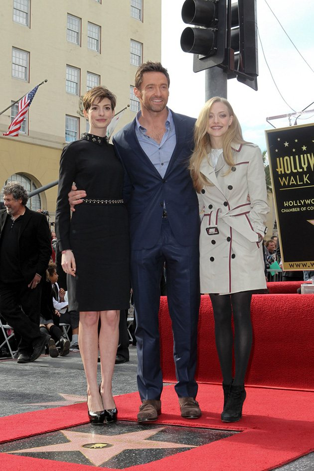 Hugh Jackman Anne Hathaway Amanda Seyfried Walk of Fame