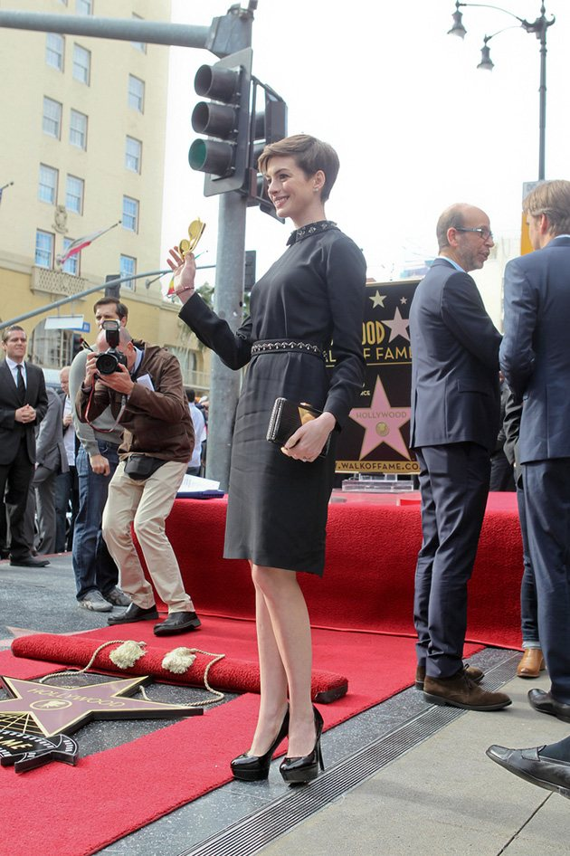 Hugh Jackman Anne Hathaway Walk of Fame