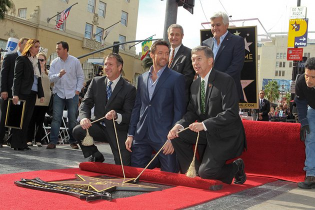 Hugh Jackman Jay Leno Walk of Fame 2